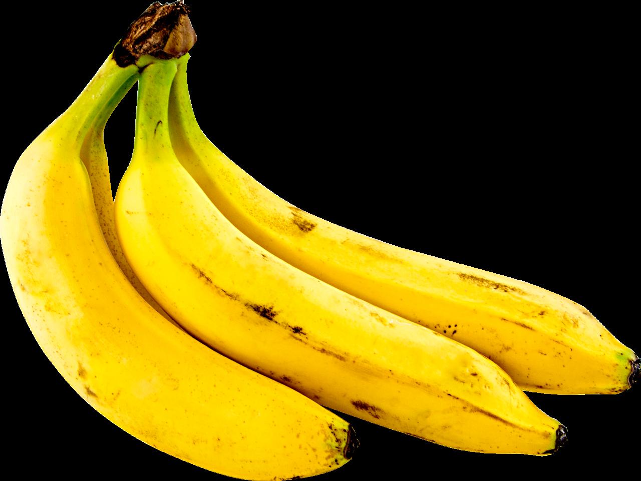 Three Bananas PNG Image