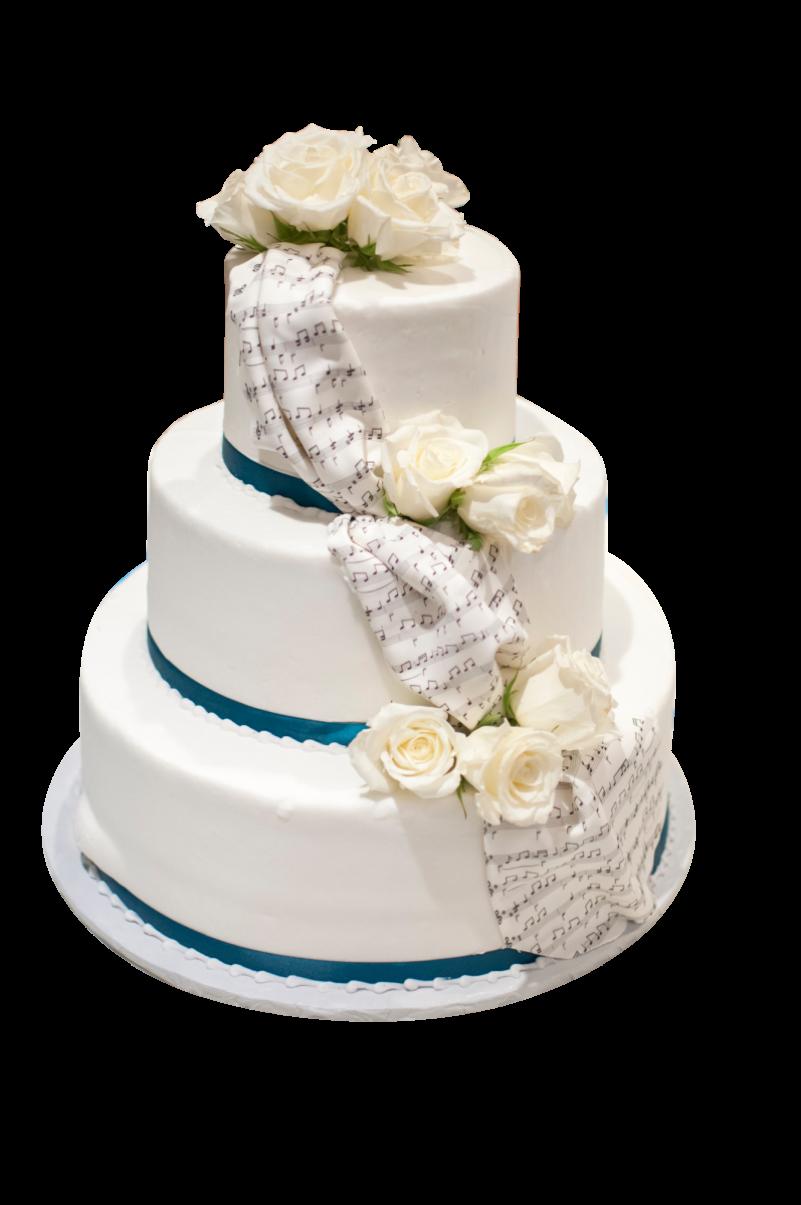Three layered White Cake PNG Image