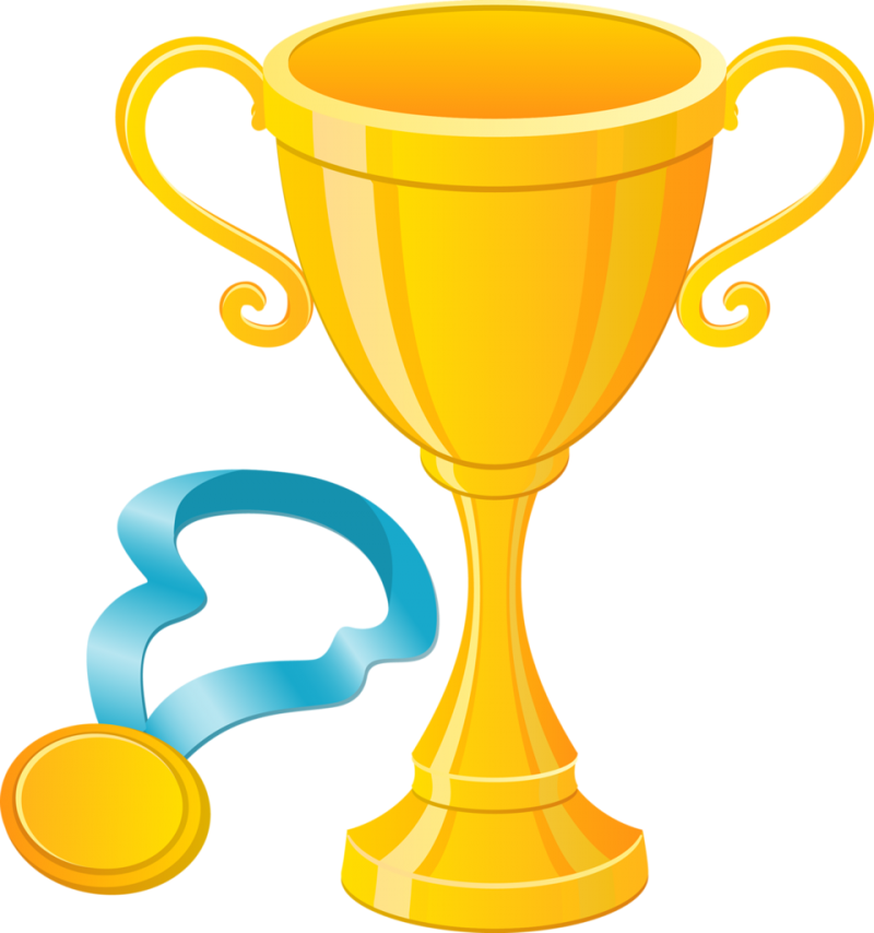 Trophy With Gold Medal PNG Image