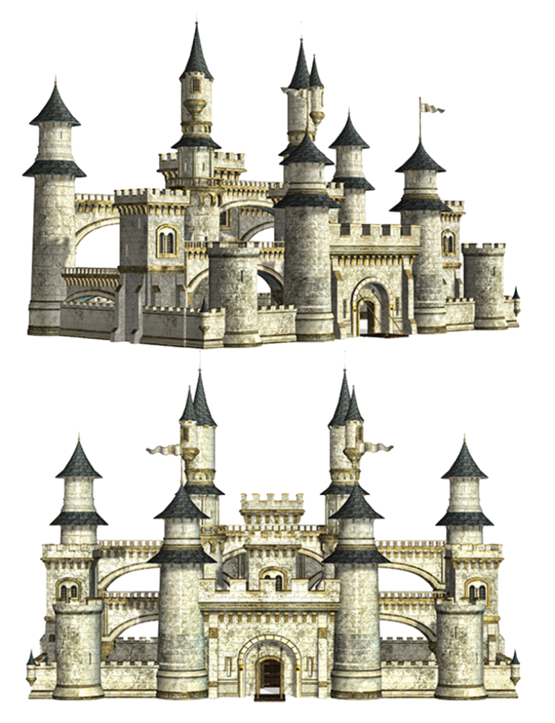 Twin Castles  PNG Image