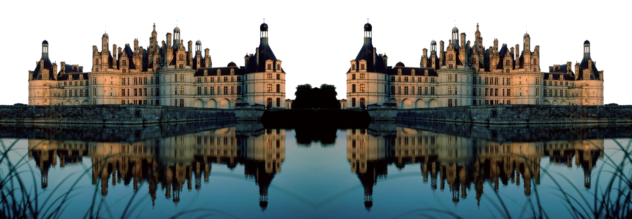 Mirrored Image of a Castle PNG Image