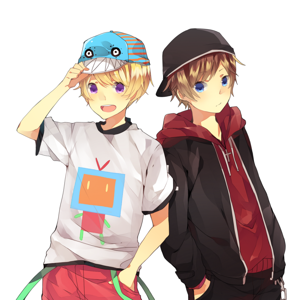 Two Anime Boys PNG Image