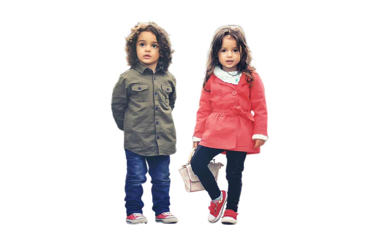 Two Cute Kids PNG Image