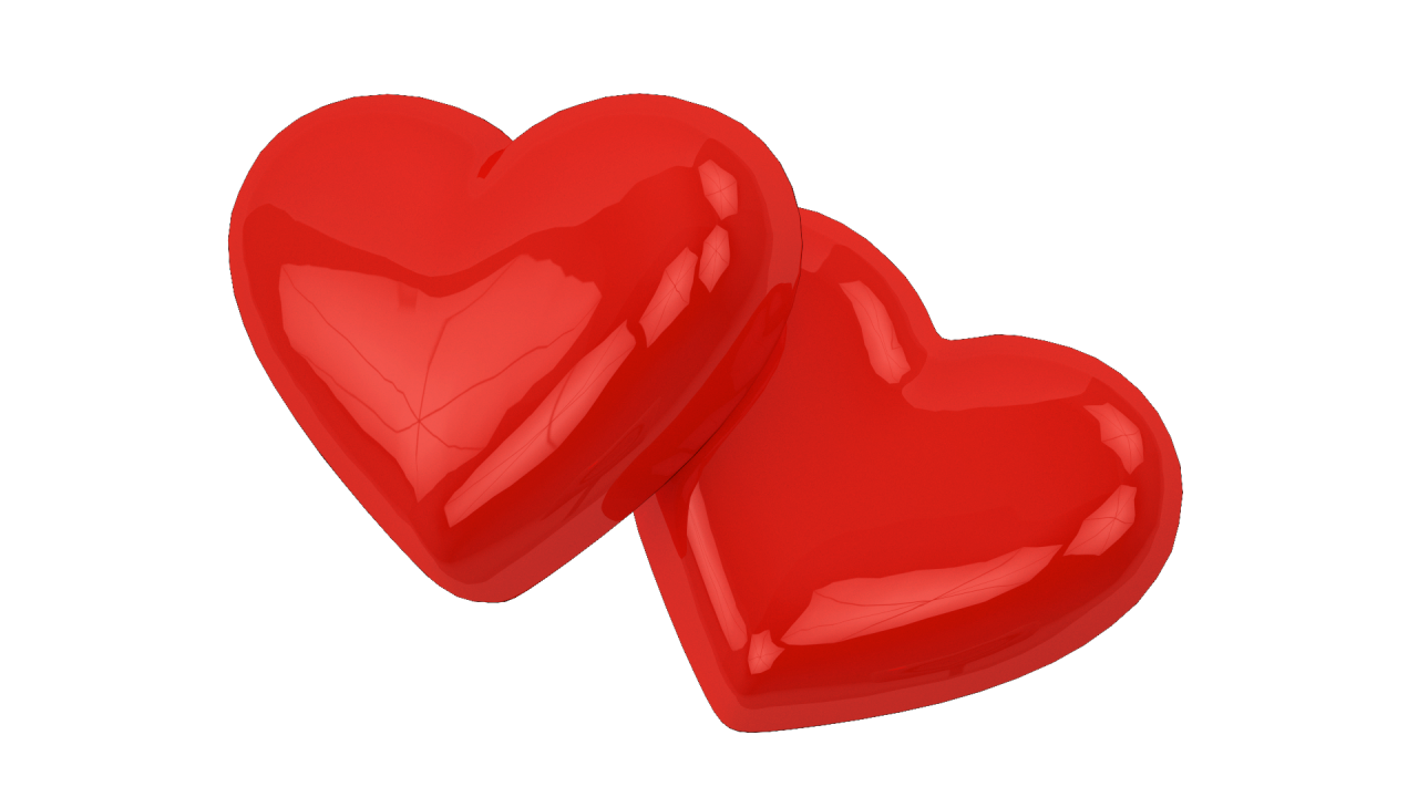 Two Love Hearts PNG Image