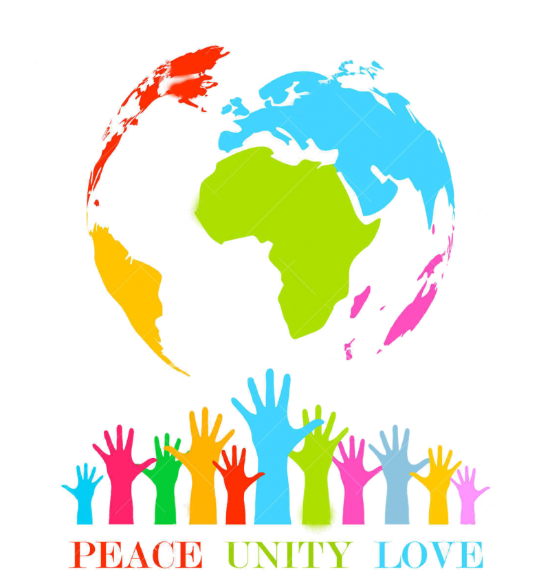 Peace, Unity, Love PNG Image
