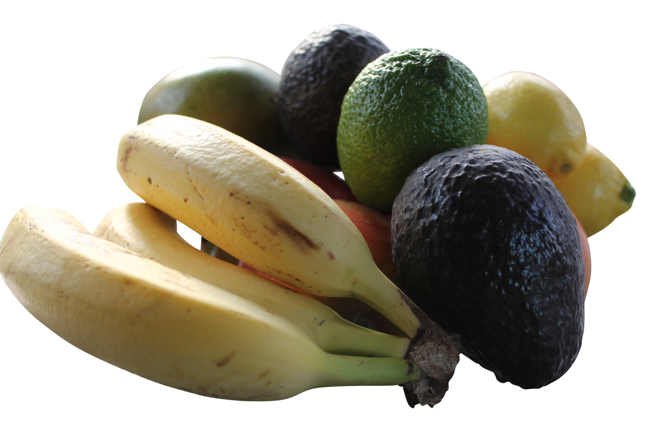 Unpeeled Mixed Fruits PNG Image