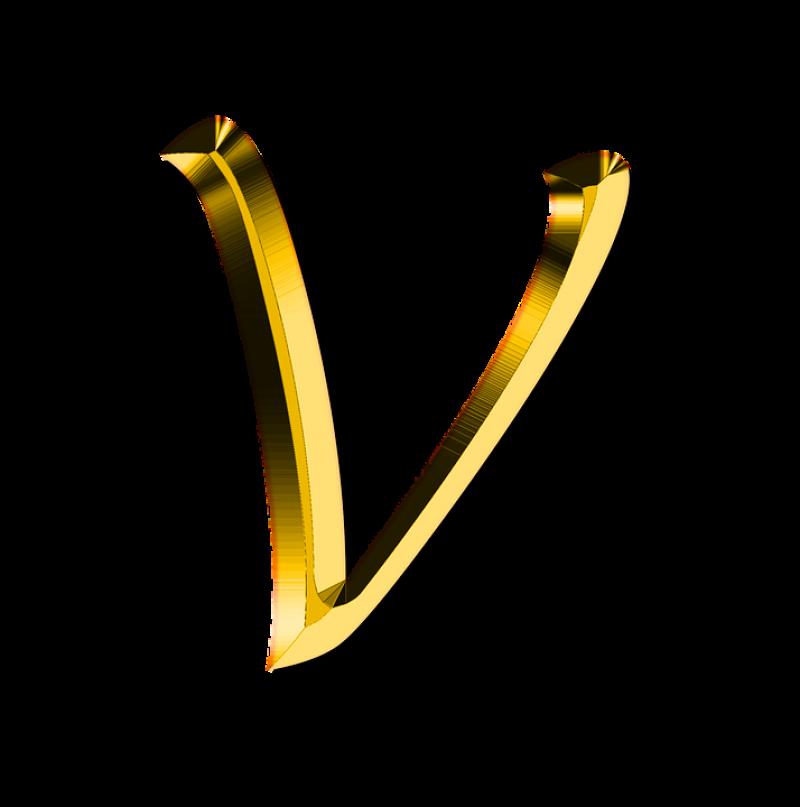 V Letter PNG Image