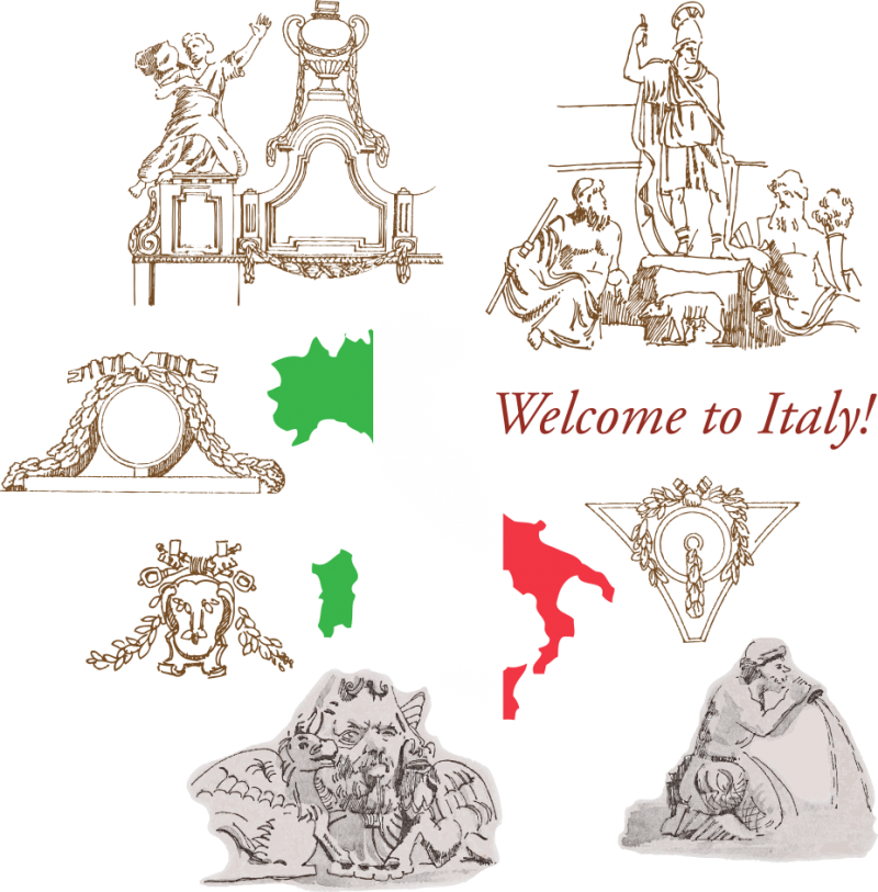 Welcome to Italy PNG Image