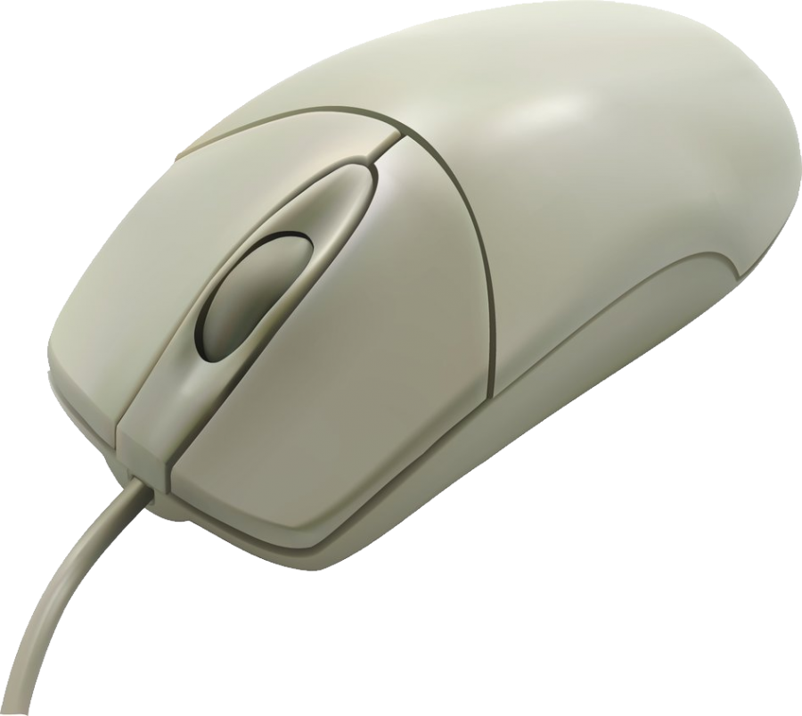 White Computer Mouse PNG Image