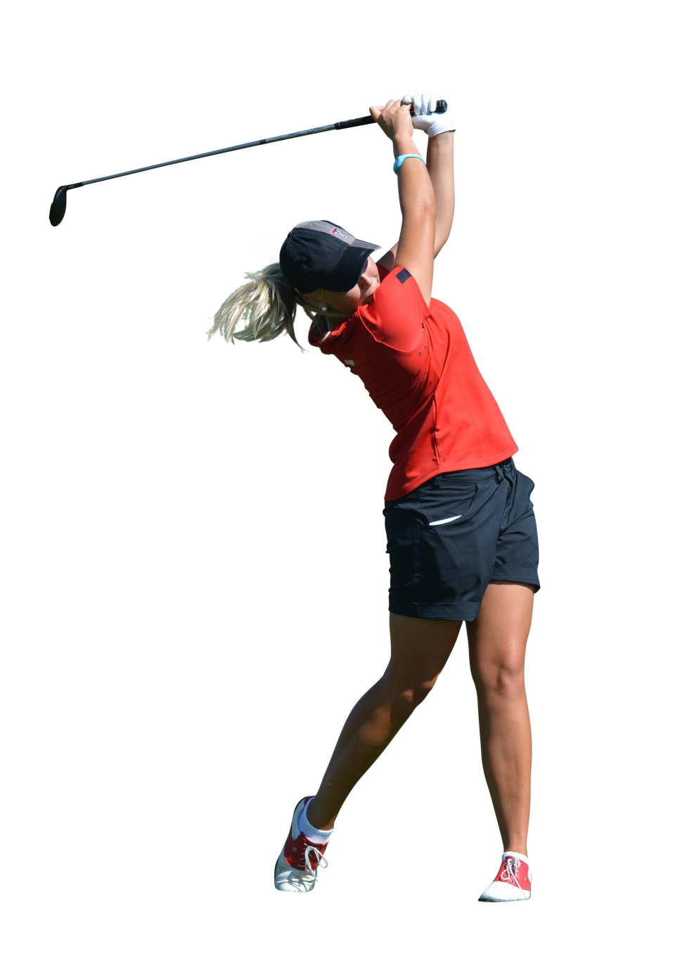 Woman play Golf PNG Image