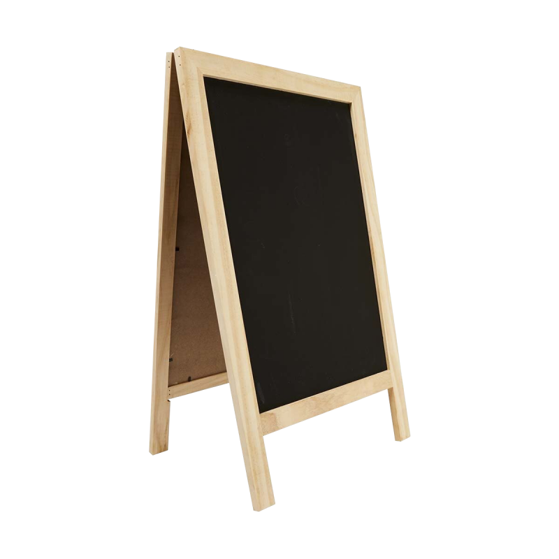 Wood Blackboard Sidewalk Sign Side PNG Image