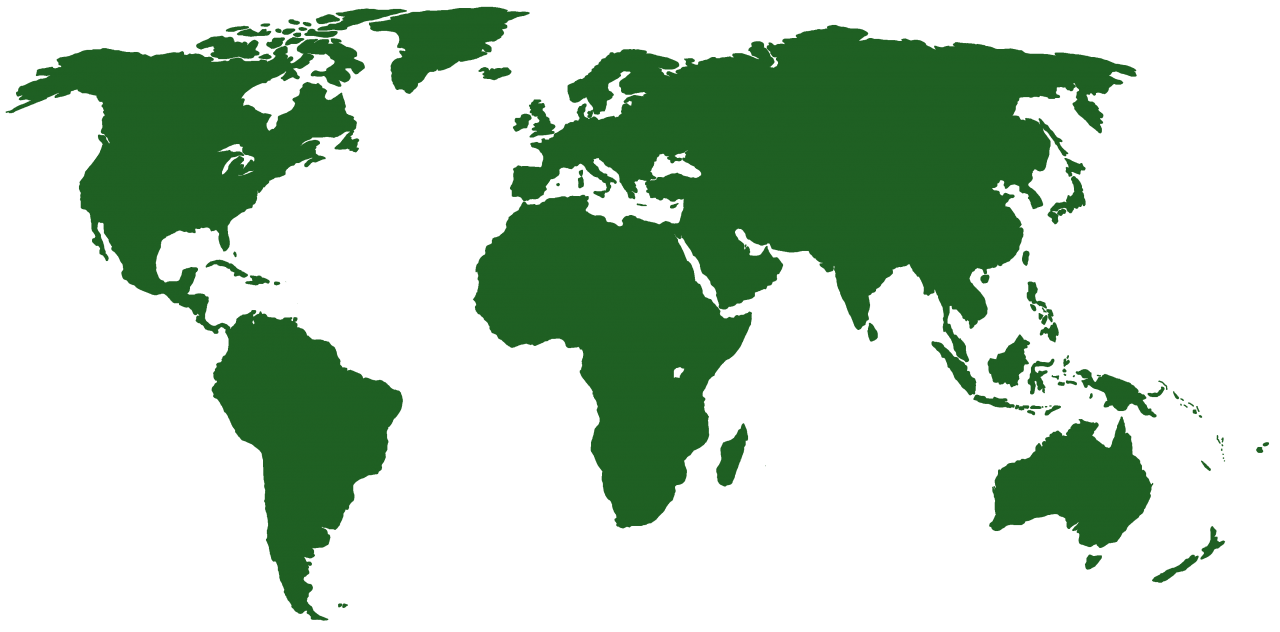 Worlp Map in Green PNG Image