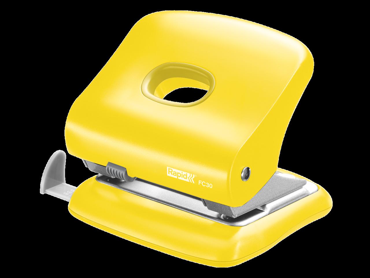 Yellow Punch Hole Machine PNG Image