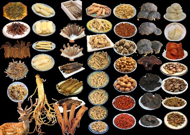 Chinese Food Ingredients PNG Image