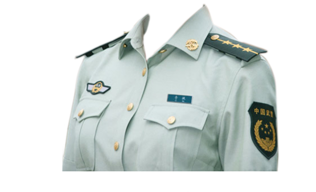 Chinese Police Uniform PNG Image