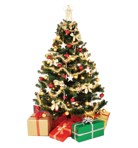 X-mas Tree Decorative PNG Image