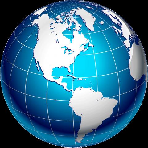 Cartoon Globe PNG Image