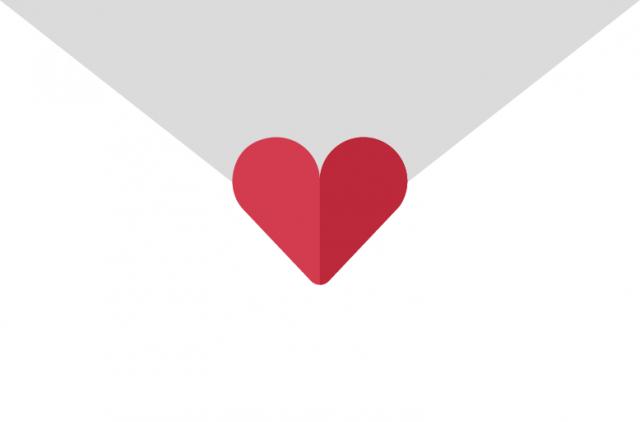 Heart Letter PNG Image
