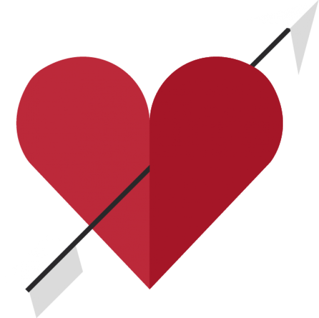 Heart with Arrow PNG Image