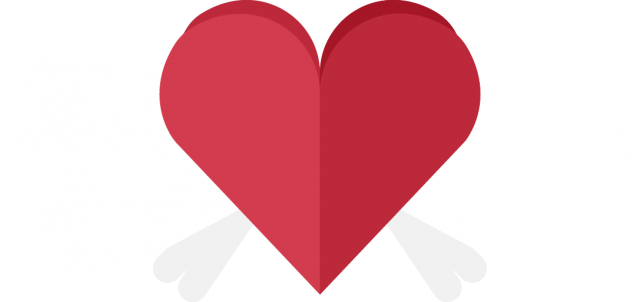 Heart with Wings PNG Image