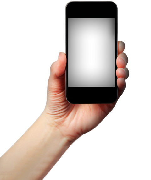 Mobile in Hand PNG Image
