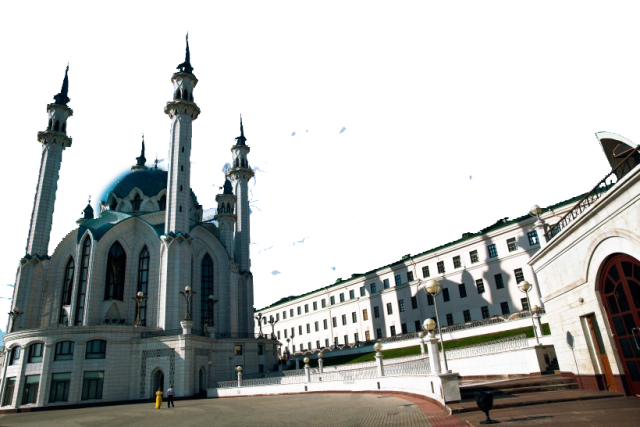 White Landmark Building in Russia PNG Image