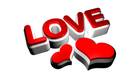 3d Love Render PNG
