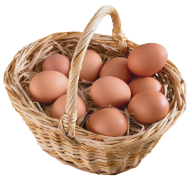 Basket  Full of eggs PNG