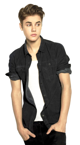A Famous Singer Justin Bieber PNG
