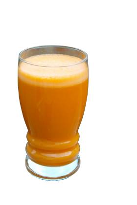 A Glass Filled with Orange Carrot Juice PNG