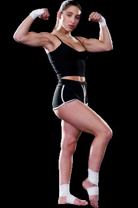 Abella Danger Muscle Pose PNG