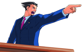 Ace Attorney Pointing PNG
