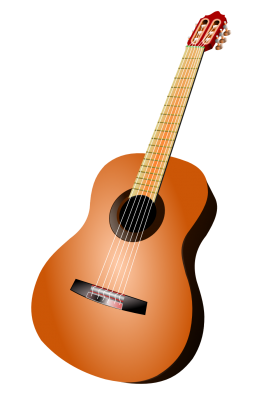 Acoustic Brown Guitar PNG