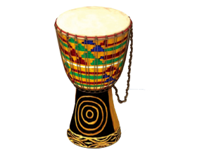 African Kente Drum PNG