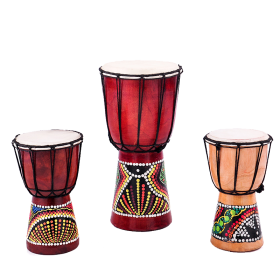Three African Drums PNG