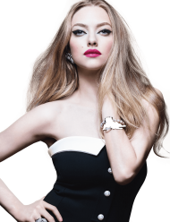 Amanda Seyfried Black Dress PNG