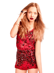 Amanda Seyfried Red Dress PNG