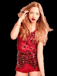 Amanda Seyfried Red Dress PNG