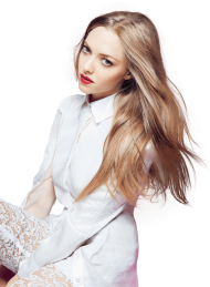 Amanda Seyfried White Dress PNG