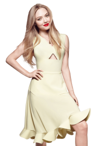 Amanda Seyfried Yellow Dress PNG