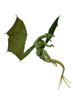 Angry Green Dragon PNG