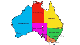 Australia Map with Names PNG