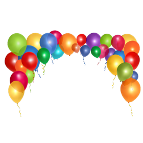 Multicolor Balloon Bow PNG