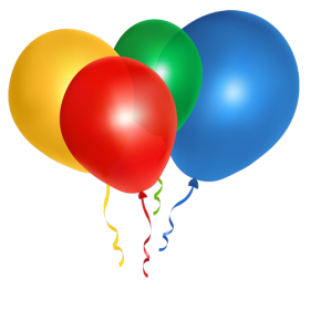 Muticolored Ballons Flying PNG
