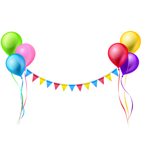 Balloon Garland PNG