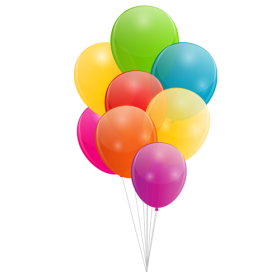 Multicolored Balloon PNG