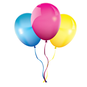 Flying Multicolored Balloons PNG
