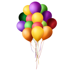 Many Multicolored Balloons PNG