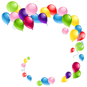 Curved Flying Balloons PNG