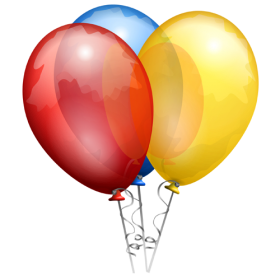 Anniversairy Balloon Multicolored PNG